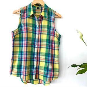 American Living sleeveless button down shirt